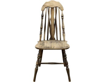 SALE! Antique splat tapered back Windsor Chair w/ turned spindle legs