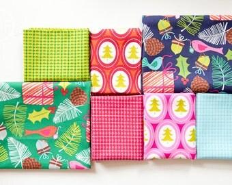 Treelicious Half Yard Bundle, 7 Pieces, Maude Asbury, Blend Fabrics, 100% Cotton Fabric, 101.112