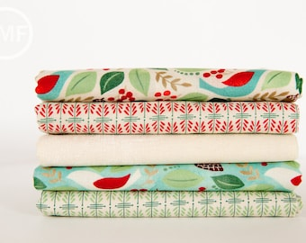Evergreen Half Yard Bundle, 5 Pieces, BasicGrey, 100% Cotton, Moda Fabrics