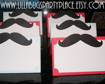 Mustache Place Card, Food Label
