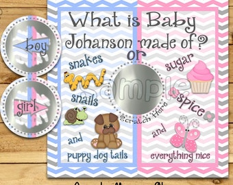 Gender Reveal scratch off cards Custom baby reveal Baby Pregnancy announcement card gender announcement cards baby boy baby girl 12 Precut