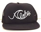 ALOHA WAVE - MESH Hat Handmade Trucker Hat Snapback Baseball Cap