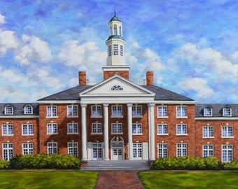 Fine Art Print- Jewett Hall, Historic Judson College, Marion Alabama