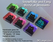 DizzyCat Glass Tile Pendants. Select your favorite, or collect them all.