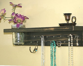 Jewelry Holder Wall/ Jewelry Organizer Wall/ Jewelry Rack/  Headband