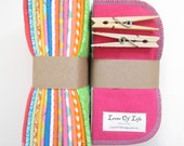 Reusable Cloth Wipes Pack of 64--2 Ply Flannel--Regular--Made To Order
