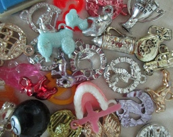 Novelty Gum Ball Machine Charms      Collection  1960's