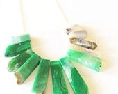 Mixed Gemstone Statement Necklace
