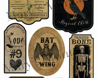 Halloween Labels  2nd Edition