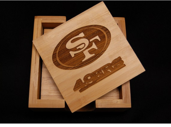 San Francisco 49ers 49ers Coasters Drink Coaster Bamboo