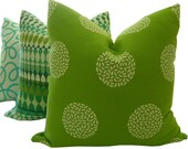 Green Outdoor Pillows - Green Decorative Pillows - Sunbrella Pillow - Outdoor Home Decor - Lumbar Pillow - Square Pillow - Green Toss Pillow