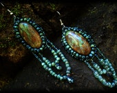 "Jaspter Dangle Earring from the ""Artemis Collection"""