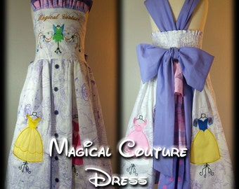 Ready to Ship Size 4 Boutique Tiered Back Ruffle Magical Couture Princess Jumper Dress