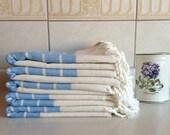 Premium Turkish Towel, Peshtemal, guest towel, Bath and Body, Hammam, for her, Bride gift, Wedding, Natural Linen, spa, yoga, baby blue