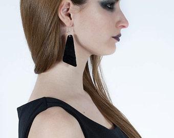 "Vinyl record earrings ""big triangle"""
