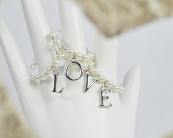LOVE ....  Wine Glass Charms