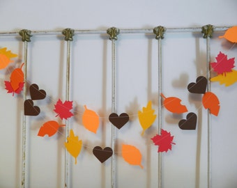 thanksgiving fall decor 6ft fall leaves hearts garland woodland baby shower decor fall