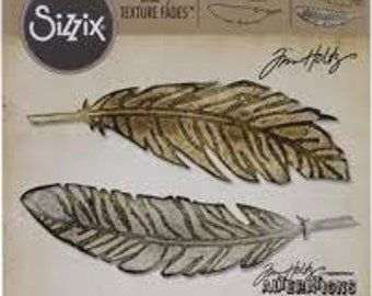 FEATHER DUO - New! Tim Holtz Alterations BigZ Die w/ Bonus Embossing Folder - 660237