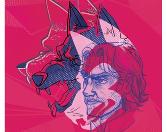 The Wolf Among Us - Fables - Abstract Bigby Art Print