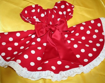 Minnie Mouse Inspired Twirl Dress - Size 12 months to 4T
