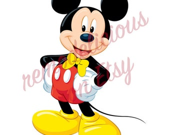 """Printable """"Pin the Bowtie on Mickey Mouse"""" Party Game Files - Mickey Without a separate Bowtie Printable"""