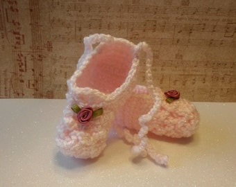 Adorable baby ballet shoes