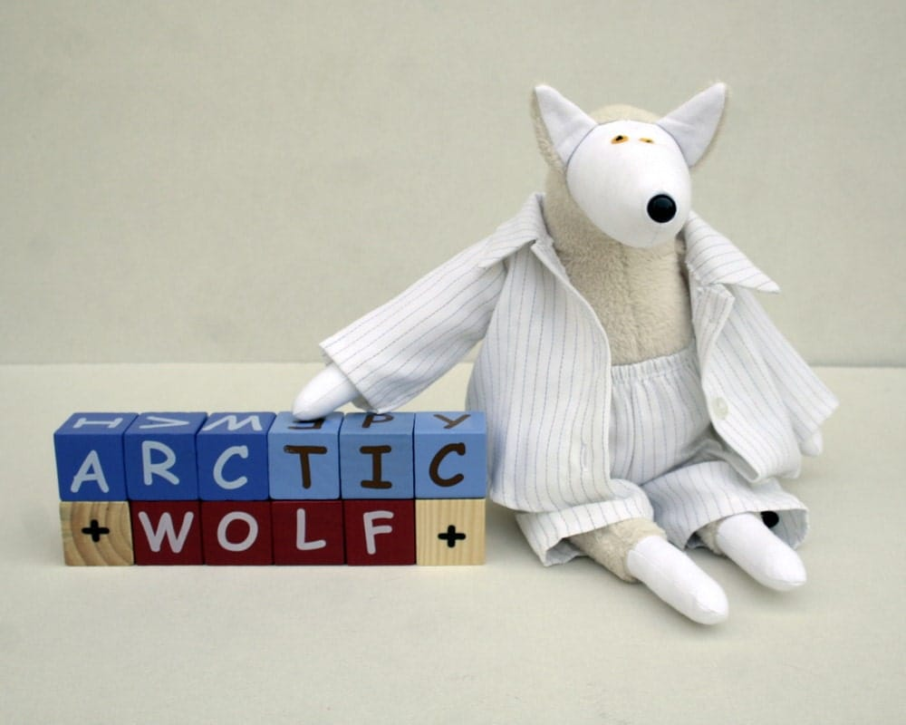 Arctic Wolf, stuffed animal toy for children