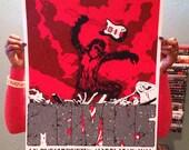 Melvins print for Denver, Co Show