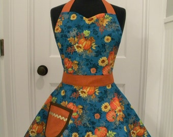 Womens Apron-Autumn Splendor Full Sweetheart Apron