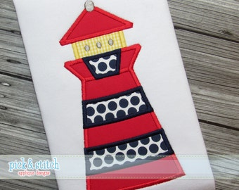 Lighthouse Applique Design Machine Embroidery INSTANT DOWNLOAD