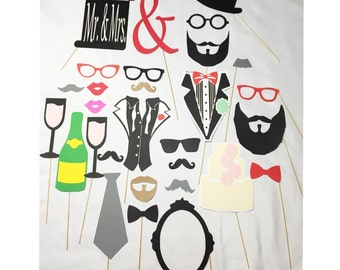29pc* Wedding photo booth props