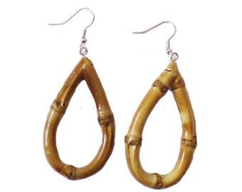 Tiki Oval Bamboo Earrings (Original)