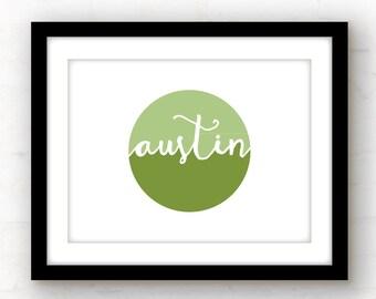 austin texas art // austin art // austin texas wall art // austin print // texas wall art // texas decor