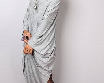 Light Grey Sweater Dress / Batwing Tunic / Top Dress : Urban Chic Collection no.8
