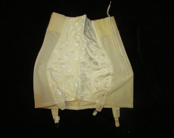 Sexy Vintage Sears Crotchless Foundation Girdle with Garters, Vintage Lingerie, Vintage Garters, Vintage Girdle