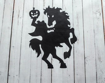 Vinyl Wall Decal Headless Horseman Halloween