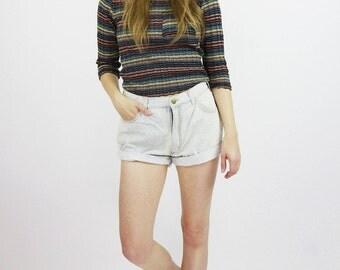 Vintage 90s Bleached Denim Shorts