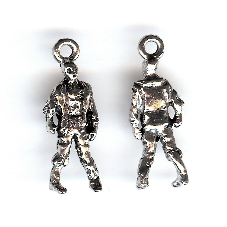 zombie charm pewter 3d made in the usa cnt from