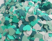 Over 2000 Mini Confetti Hearts. MINTY DREAM. Weddings, Showers, Decorations. Or Choose Your Colors.