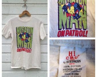 1980's Megaton Man t-shirt, medium