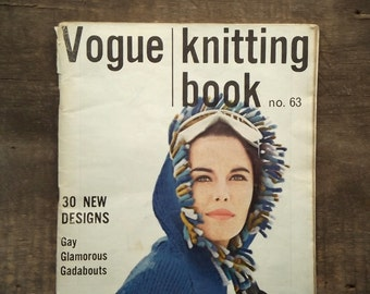 Vintage Vogue Knitting Book no. 63 volume 11 magazine vintage 1960s knitting 1963
