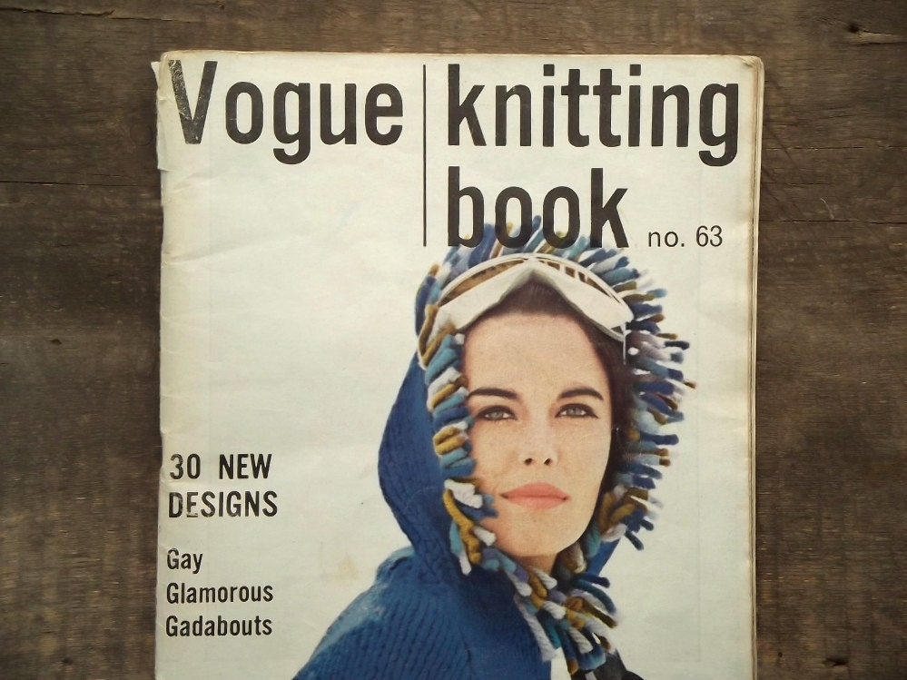 Vintage Vogue Knitting Pattern Books : Vintage Vogue Knitting Book no. 63 volume 11 magazine vintage