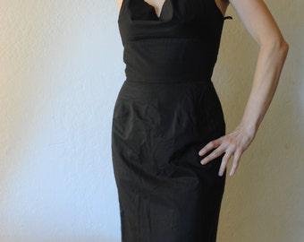 40s 50s Frederick's of hollywood bombshell halter dress