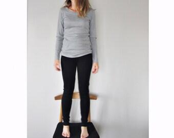 womens fine merino wool leggings, ladies tights, woollen pants (black)