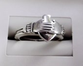Sterling Silver Claddagh Slide over Puzzle Ring Size 8