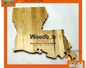 16'' Louisiana personalized cutting board cutting boards wood cutting board wooden cutting board cutting board personalized engraved gifts