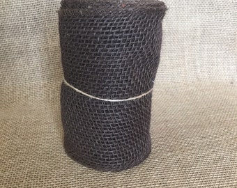 "Brown Burlap Ribbon - 5.5""x15ft"