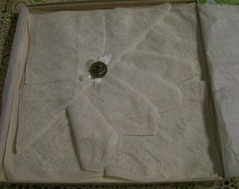 Vintage Madeira Handkerchiefs Original Box 1950s Lot of 3 Nasharr