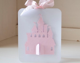 Princess Birthday Party Invitations Castle Pink Fairy Tale Thank You Cards