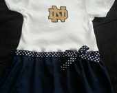 Notre Dame inspired baby girl outfit